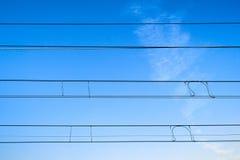 Cables ferroviarios Fotografía de archivo libre de regalías