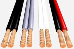 Cables flexibles 3D Imagen de archivo