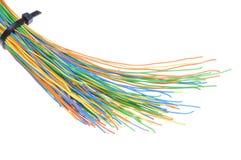 Cables multicolores de la telecomunicación Fotografía de archivo