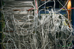 Cables 43145715. Cables in a network system split 43145715 Royalty Free Stock Photo