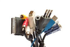 Cables and plugs Royalty Free Stock Photography