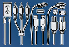 Cables and Plugs Royalty Free Stock Image