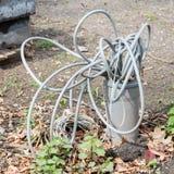 Cables que salen de la tierra Imágenes de archivo libres de regalías