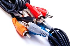 Cables RCA Stock Image