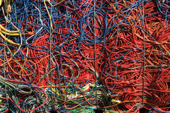 Cables red blue Stock Photography