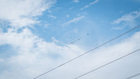 Cables sky Royalty Free Stock Images