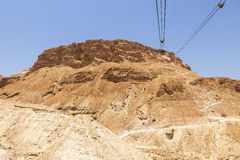 Cables To The Masada Plateau Royalty Free Stock Photo