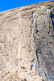 The Cables up Half Dome in Yosemite National Park Stock Photography