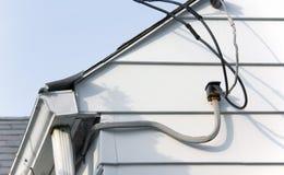 Cables utilitarios Imagen de archivo libre de regalías