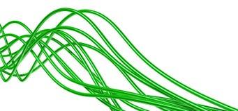 Cables verdes Fotografía de archivo