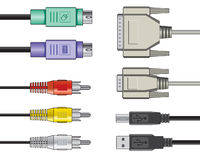 Cables video audios del ordenador libre illustration