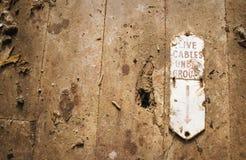 Cables vivos subterráneos Fotos de archivo