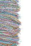 Cables y alambres coloreados de la telecomunicación Fotografía de archivo