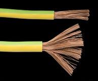 Cables y alambres expuestos Imagen de archivo libre de regalías