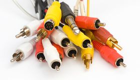 Cables y conectores Imágenes de archivo libres de regalías