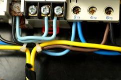 Cables y conexiones Fotografía de archivo libre de regalías