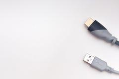 Cables y conexiones de la red Imágenes de archivo libres de regalías