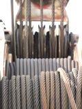 Cables y poleas Imagen de archivo