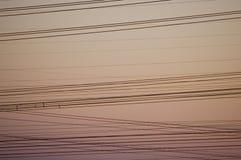 Cablespower de l'électricité Photo stock
