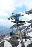 Cableway βουνών χιονιού δράκων νεφριτών τελεφερίκ Στοκ Εικόνα