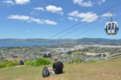 Cableway γονδολών οριζόντων σε Rotorua - τη Νέα Ζηλανδία Στοκ Εικόνα