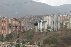 Cableway που βλέπει Βενεζουέλα από Palo Verde στο Καράκας, στοκ φωτογραφία με δικαίωμα ελεύθερης χρήσης