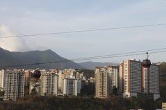 Cableway που βλέπει Βενεζουέλα από Palo Verde στο Καράκας, στοκ εικόνες