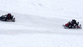 cableway στο αθλητικό κέντρο χειμερινού χιονιού, uludag, Bursa, Τουρκία απόθεμα βίντεο