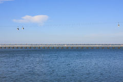 Cableway στο πάρκο των εθνών στη Λισσαβώνα Στοκ φωτογραφία με δικαίωμα ελεύθερης χρήσης