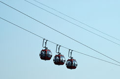 Cableway. Suspend on the air Stock Image