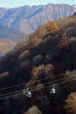 Cableway arkivbild