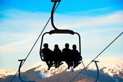 Cableway At Ski Resort Stock Images