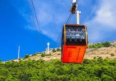 Cableway av Dubrovnik, Kroatien, 14-09-2016 Arkivfoton