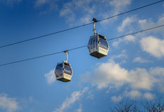 Cableway in Barcelona Stock Image
