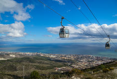 Cableway at Benalmadena, Andalusia, Spain Royalty Free Stock Photos