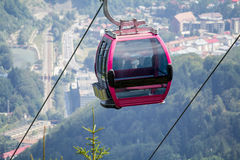 Cableway cabin Royalty Free Stock Photo
