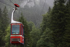 Cableway / Cable car. In Switzerland Stock Images