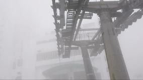 Cableway (cable car) leading to Genting in Kuala Lumpur,. Malaysia stock footage
