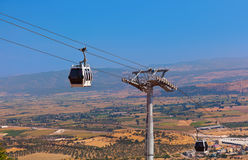 Cableway car in ancient city of Pergamon Turkey Stock Photos