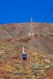 Cableway car in volcano Teide at Tenerife island - Canary Spain royalty free stock images