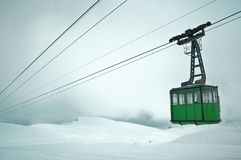 Cableway in the Carpathian mountains Royalty Free Stock Photo