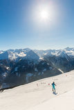 Cableway and chairlift in ski resort Bad Gastein in mountains, Austria. Royalty Free Stock Image