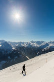 Cableway and chairlift in ski resort Bad Gastein in mountains, Austria Stock Photography
