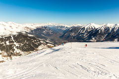 Cableway and chairlift in ski resort Bad Gastein in mountains, Austria. Stock Images