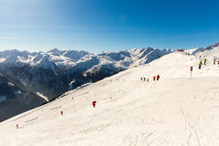 Cableway and chairlift in ski resort Bad Gastein in mountains, Austria. Stock Image
