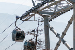 Cableway royalty free stock photo