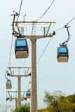 Cableway of city near sea Royalty Free Stock Photography