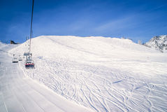 Cableway in Courmayeur Stock Image