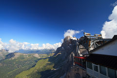 Cableway on Dolomites Stock Images