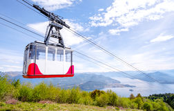 Cableway downhill closeup Royalty Free Stock Image